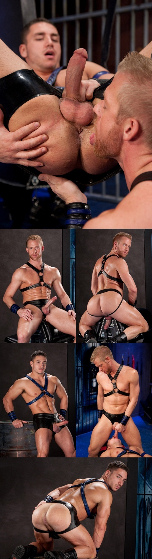 Hot cock sucker Chris Daniels services hungry bottom Marc Dylan tight ass in a sling 1 Download Full Gay Porn Gallery here