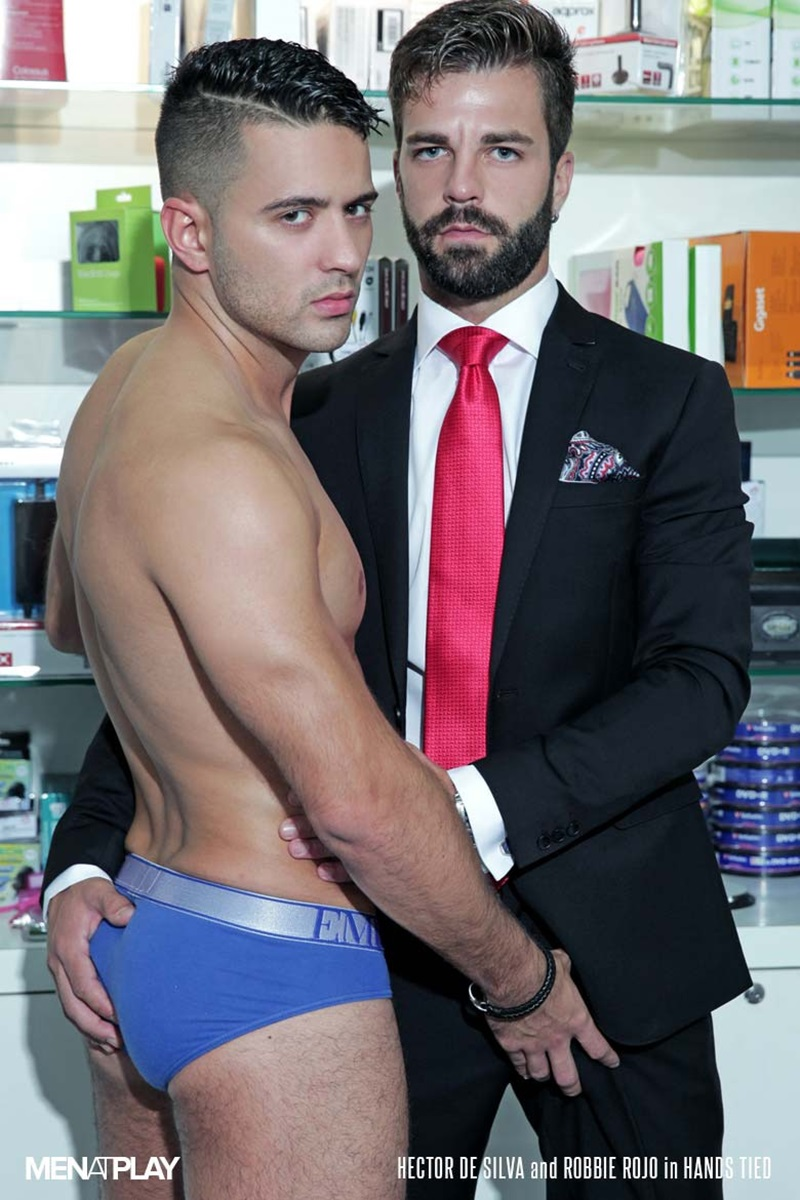 MenatPlay-suited-sex-Robbie-Rojo-sexual-favours-Hector-de-Silva-horny-thick-uncut-Spanish-dick-tongue-deep-rimming-smooth-ass-hole-fucking-03-gay-porn-star-sex-video-gallery-photo