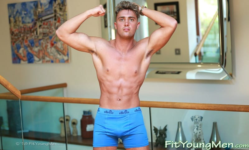 Men for Men Blog FitYoungMen-Sexy-young-sports-dude-Simon-Broad-strips-tight-undies-wanking-big-uncut-cock-massive-load-hot-boy-cum-001-gay-porn-pics-gallery Sexy young sports dude Simon Broad strips down to his tight undies wanking his big uncut cock to a massive load of hot boy cum Fit Young Men