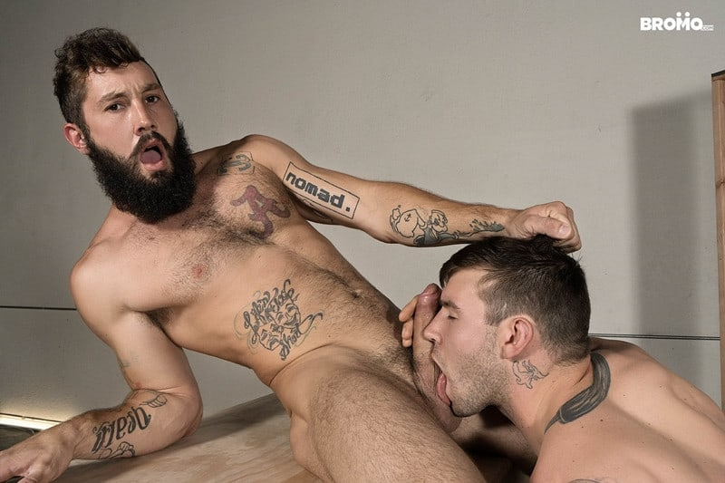 Men for Men Blog Jeff-Powers-hot-cock-fucks-Buck-Richards-tight-asshole-Hairy-bearded-muscle-hunk-Bromo-001-gay-porn-pictures-gallery Hairy bearded muscle hunk Jeff Powers hot cock splits Buck Richards' tight asshole Bromo