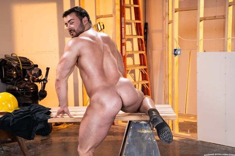 Men for Men Blog Gay-Porn-Pics-005-Derek-Bolt-Jay-Landford-naked-muscle-men-huge-cock-fucking-hot-asshole-RagingStallion Derek Bolt moans with each thrust from Jay Landford's huge cock pummeling his hot asshole Raging Stallion