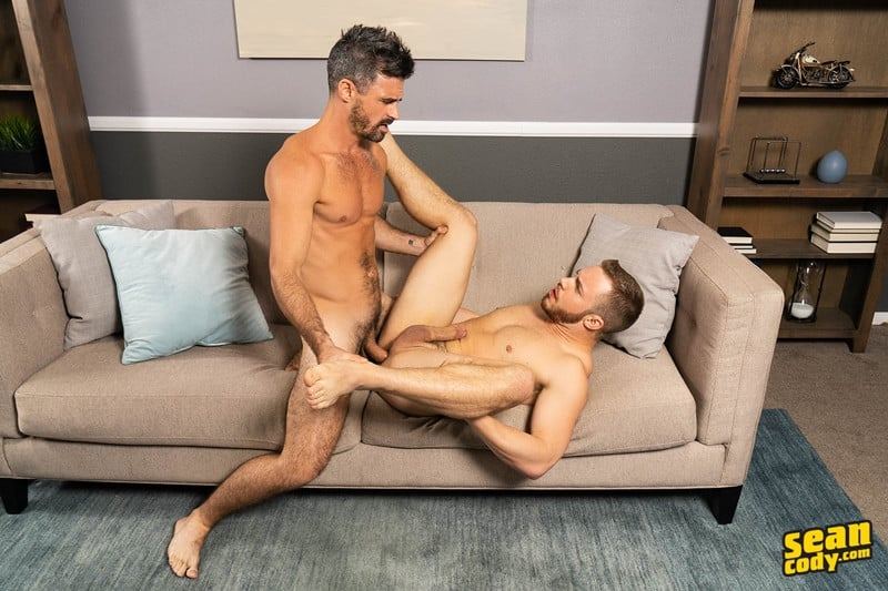 Men for Men Blog Gay-Porn-Pics-014-Stud-Daniel-muscled-Cam-sweaty-bareback-ass-fucking-SeanCody Studly Daniel leads sculpted Cam through a sweaty hands on yoga session before bareback ass fucking Sean Cody