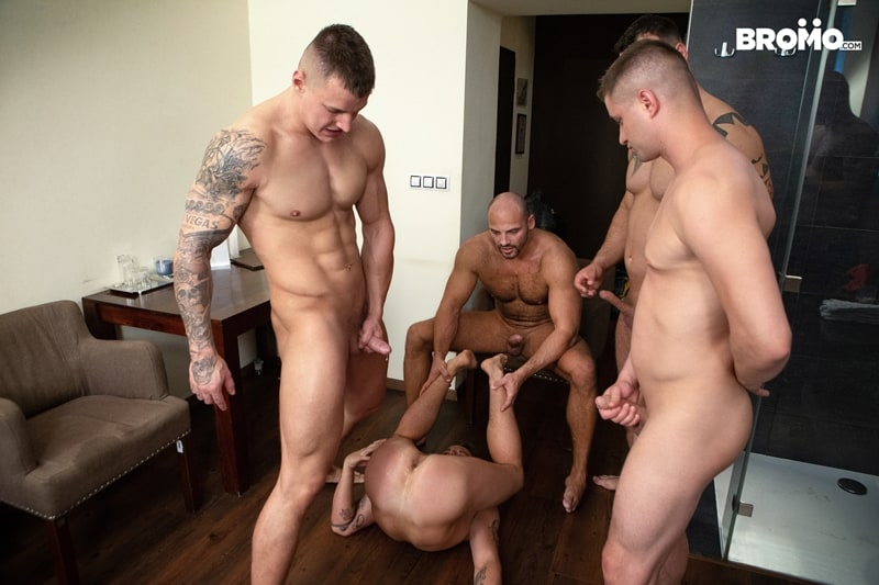 Bromo-Hot-naked-sub-dude-four-masked-men-bareback-fucking-ass-holes-022-gay-porn-pictures-gallery